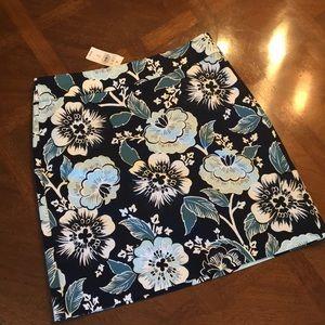 Loft Outlet Floral Skirt NWT size 2